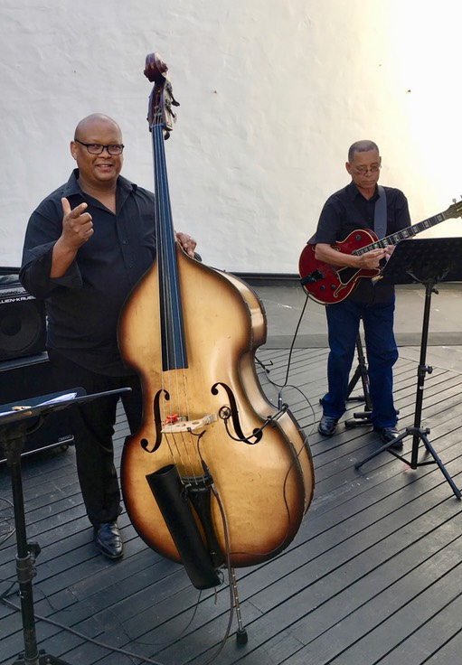 IKE MORIZ's swing band hits show at Oude Libertas Amphitheatre on 11.3.2018 wesley rustin alvin dyer
