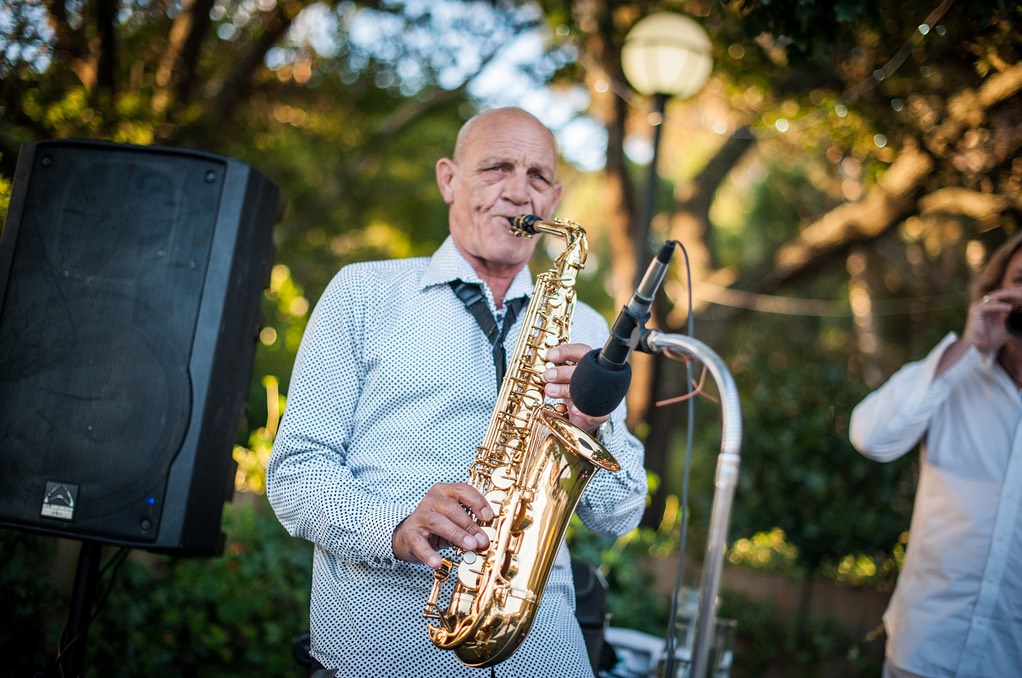 Top wedding singer duo Ike Moriz and Willie van Zyl live in Stanford White Water Farm 2016 swing jazz latin music band saxophone
