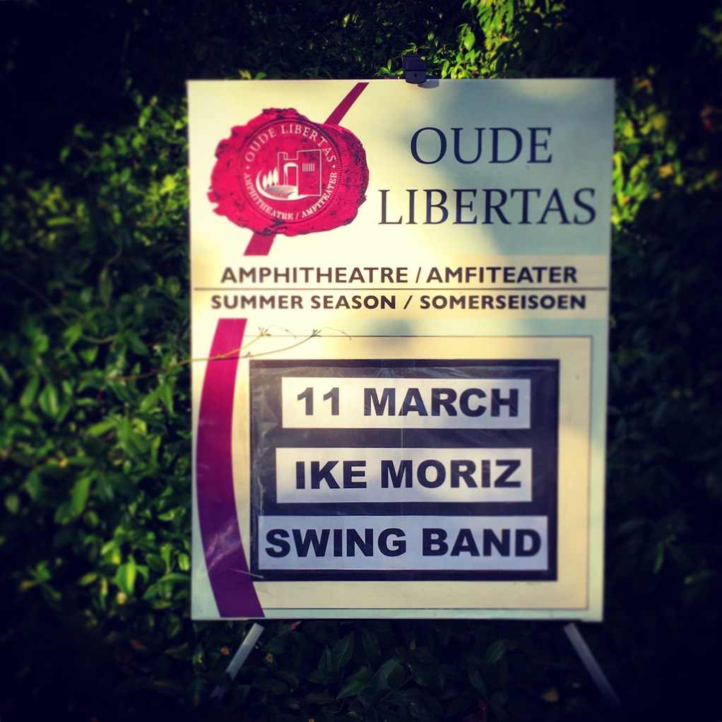 IKE MORIZ's swing band hits show at Oude Libertas Amphitheatre on 11.3.2018summer season