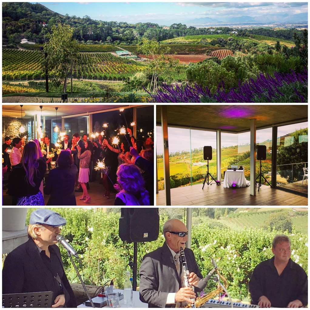 Beau Constantia wine farm with top wedding singer trio and DJ Ike Moriz live in April 2016 wedding entertainment