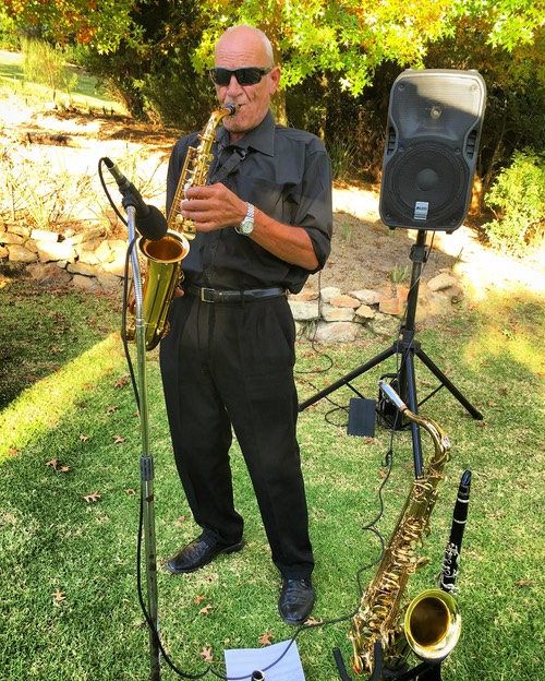 Willie van Zyl at Old Mac Daddy luxury trailer park farm Elgin valley wedding entertainer band music Top wedding singer Ike Moriz