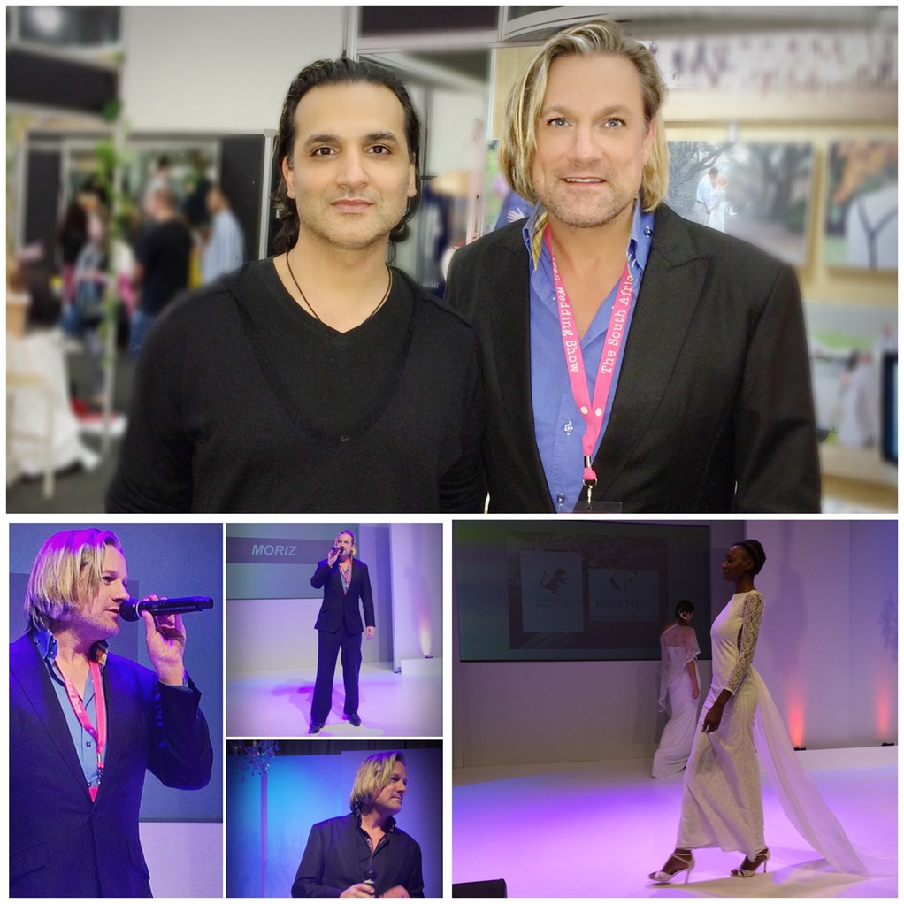 Top wedding singer Ike Moriz and designer Jagadi Couture Javaid Aslam at the SA Wedding Show 2015 CTICC