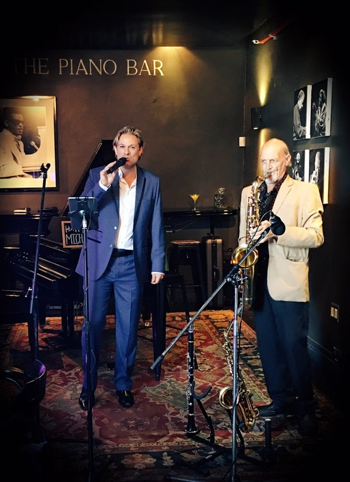 Top Wedding Singer swing duo latin jazz band entertainment Cape Town birthday function singer Ike Moriz The Piano Bar May 2017 saxophonist WV Zyl