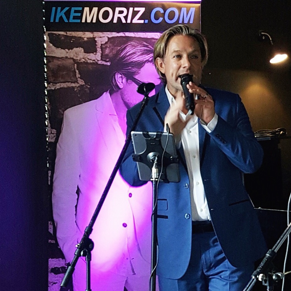 crooner Top Wedding Singer swing duo latin jazz band entertainment birthday function Ike Moriz The Piano Bar May 2017 Cape Town