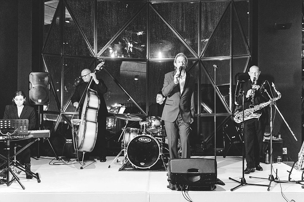Ike Moriz Quintet at Zeitz Mocaa swing band jazz Cape Town South Africa entertainment birthday top wedding singer crooner waterfront museum of contemporary art Africa zara zoo photography willie van zyl wesley rustin lynne poulsen blamire ivan bell