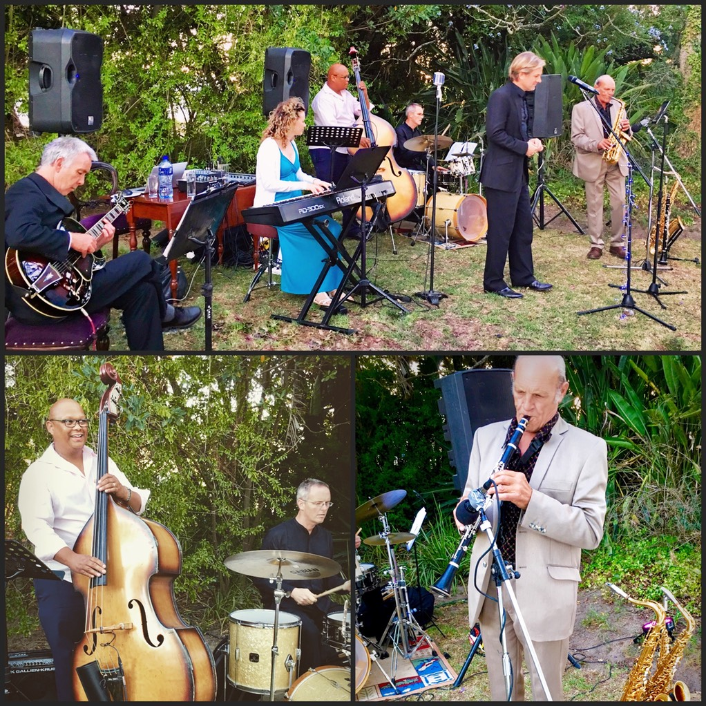 hawksmoor house wedding singer band sextet swing band entertainment events corporate jazz blues pop willie van zyl wesley rustin kevin gibson ike moriz