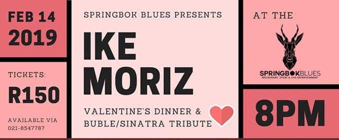 Springbok Blues Restaurant Ike Moriz solo swing sinatra bublé tribute somerset west strand helderberg romantic valentines day dinner concert show